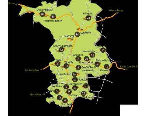 Carte de situation des projets